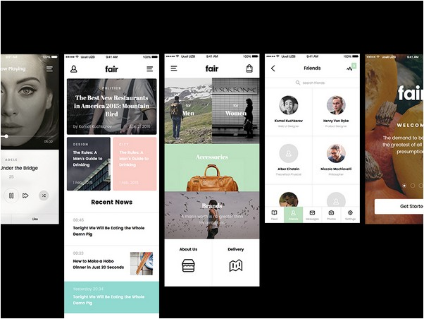 Latest Free Mobile UI kits