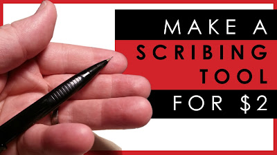 how to make a scribing tool for scale model panels for $2