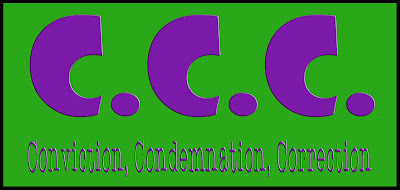 3 C's : conviction, condemnation, correction