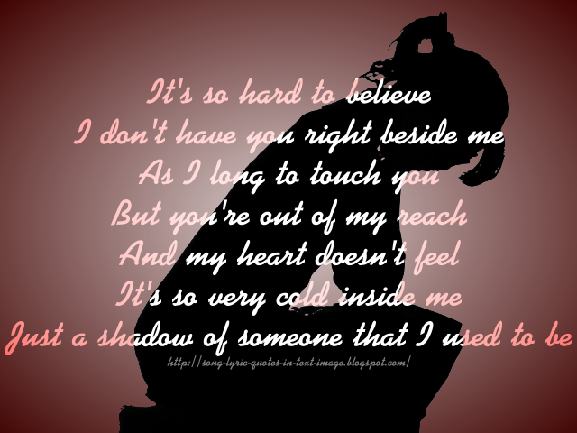 Song Lyric Quotes In Text Image: Just To Hold You Once