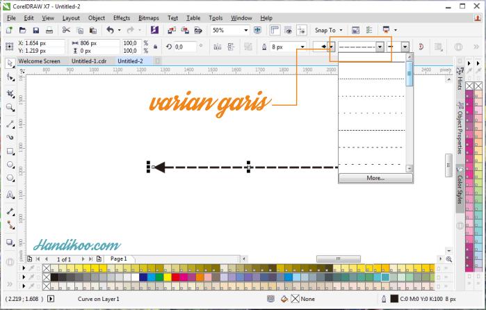 Belajar CorelDraw dan Tutorial CorelDraw - membuat panah dan infografis panah