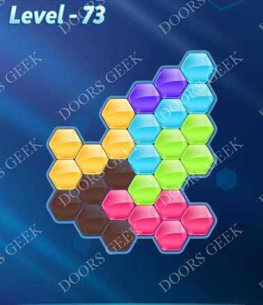 Block! Hexa Puzzle [6 Mania] Level 73 Solution, Cheats, Walkthrough for android, iphone, ipad, ipod
