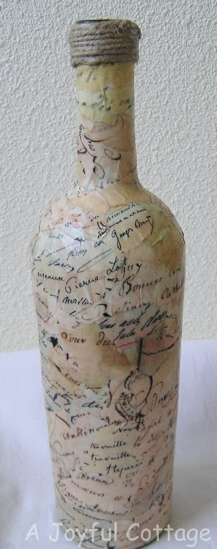 Craft: French Script Bottle