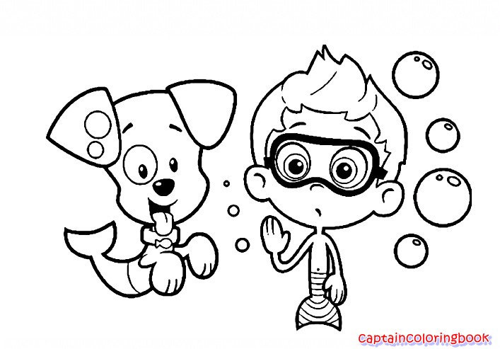 bubble guppies color pages - free bubble guppies coloring page coloring page