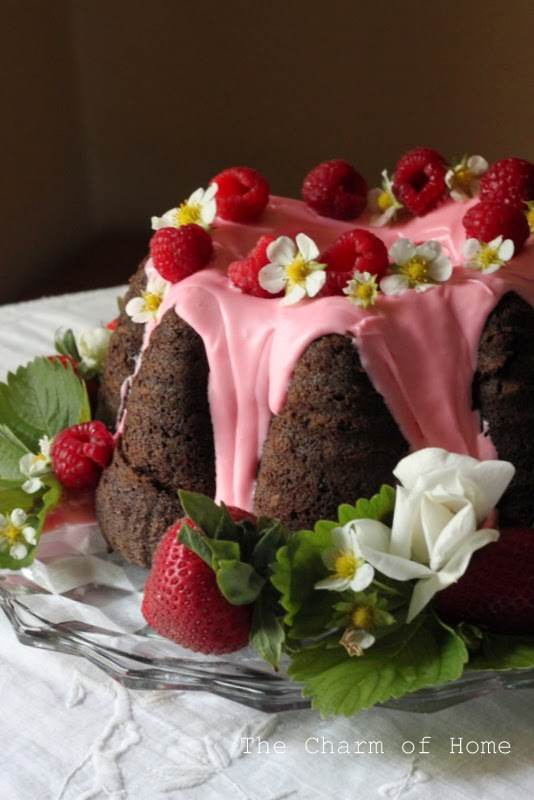 Fudge & Strawberry Cake Tea