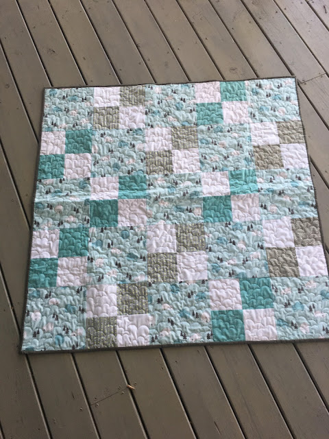 Boy quilt in a 4 patch design
