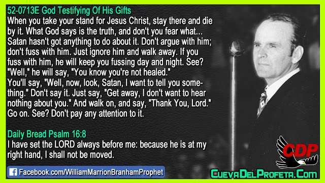 The way to get rid of Satan - William Branham Quotes