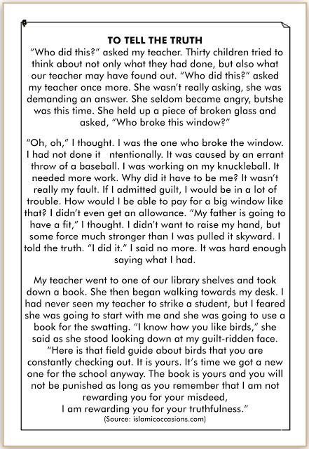 storytelling singkat kejujuran