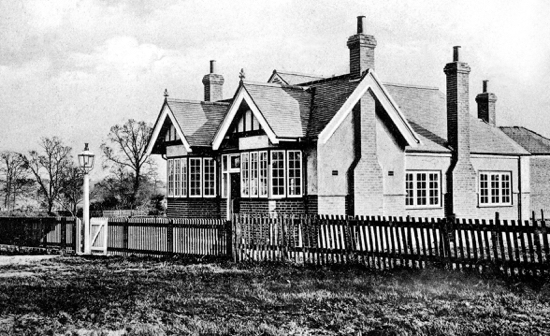 Photograph of The Village Institute North Mymms 1900s Image taken by G Knott from Peter Miller's collection,