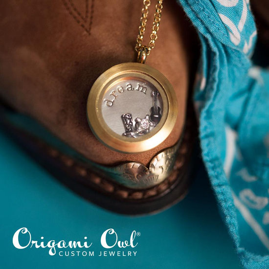 Country Dreams Origami Owl Living Locket available at  StoriedCharms.com