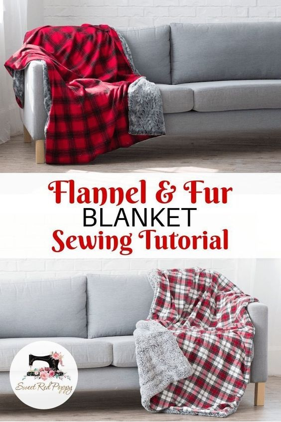 Flannel + Fur Holiday Blanket Sewing Tutorial With Joann