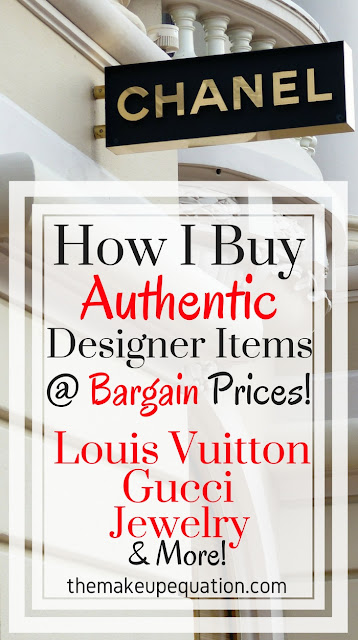 How I buy AUTHENTIC louis vuitton bags, gucci belts, jewelry, and more designer items at bargain prices. It is possible! #savingmoney #frugal #frugalliving #shoppinghacks