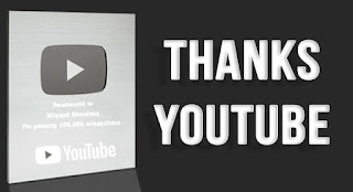 Thanks YouTube For YouTube Silver Play Button