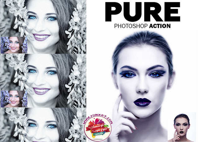 Action Download pure Photoshop effects on pictures