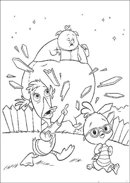 coloring pages of chicken little - photo#29
