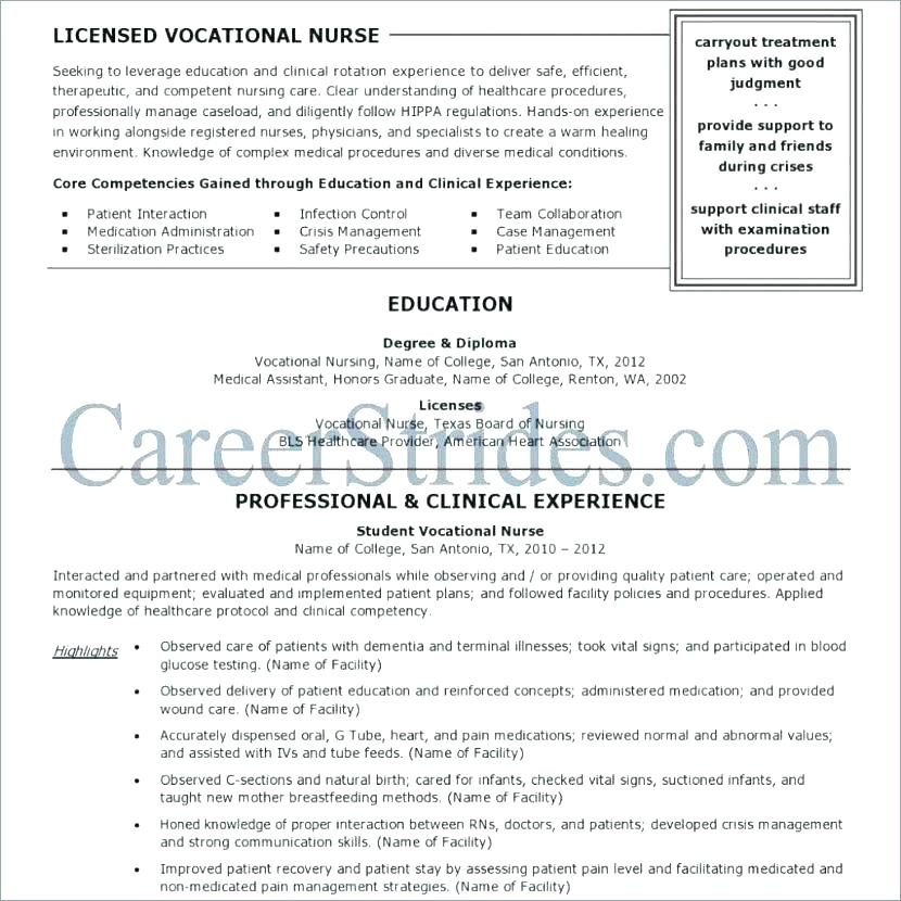 Sample Icu Nurse Resume Best Registered Example Of