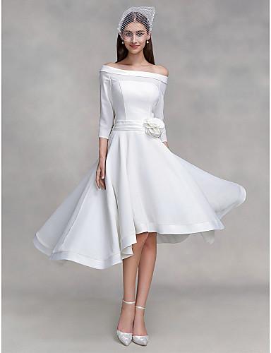 Vestido de Novia Asimétrico Hombros