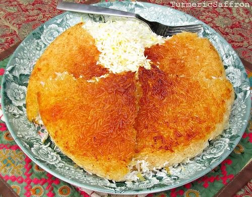 Iranian Golden Bottom of the Pot Rice Crust