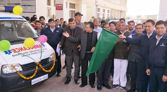 Deputy commissioner Maniram Sharma left two ambulances green after X-ray machine