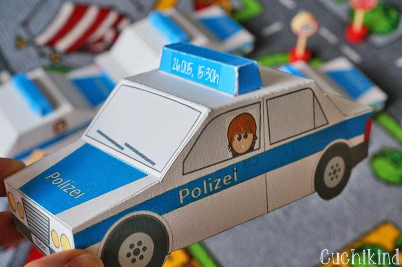 Cuchikind - DIYs für Kinder: Einladungen zum Polizei ...