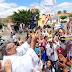 Chegada da imagem  de aparecida no Distrito Bastiões/Iracema-CE, é recebida por cavaleiro e fies com uma grande festa