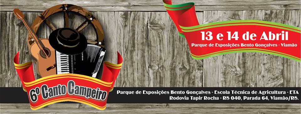 Estão abertas as inscrições para o 6º Canto Campeiro de Viamão-RS