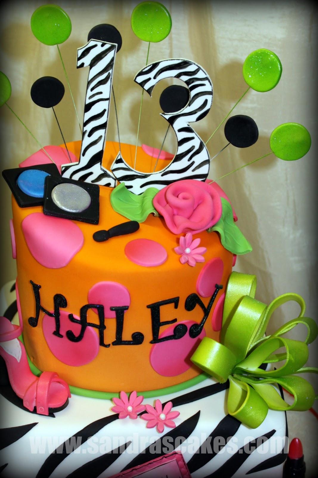 Fun And Colorful 13th Birthday Cake