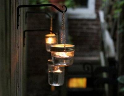 DIY Hanging Mason Jar