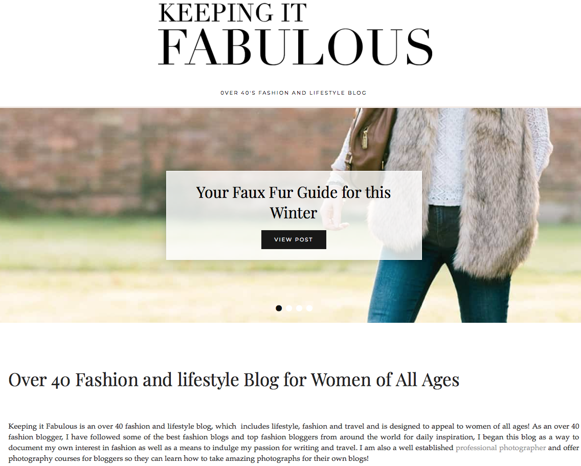 Introduction to Keeping it fabulous \ over 40 lifestyle blog \ fashion \ beauty \ 40 plus blogger