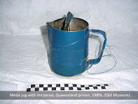 Prisoner-made kettle, with jug and immerser, Boggo Road (Queensland Museum)