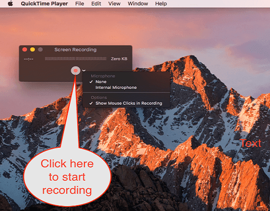 How to record Mac Screen with QuickTime Player