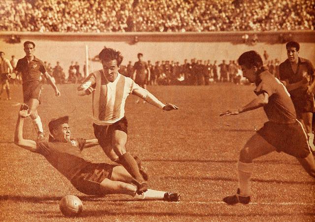 Chile y Argentina en Clasificatorias a Suecia 1958, 13 de octubre de 1957