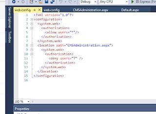web config file