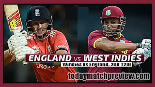 2nd T20 ENG vs WI Today Match Prediction | Who will win WI vs ENG