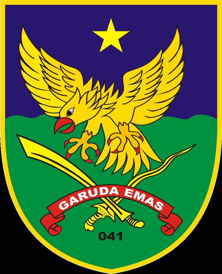 Logo Komando Resort Militer Korem 041 Garuda Emas Gambar