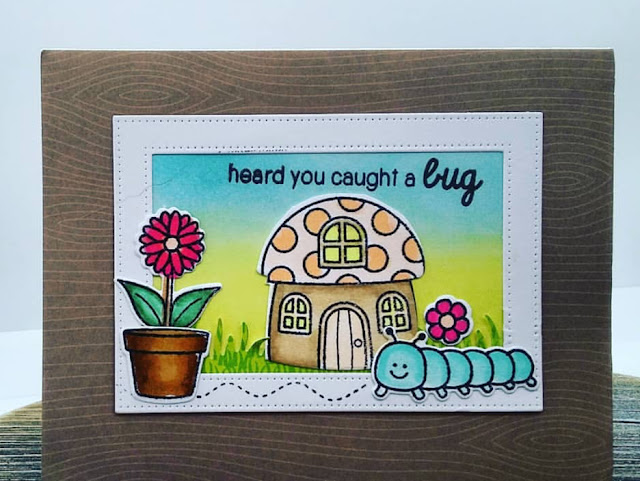Sunny Studio Stamps: Backyard Bugs Customer Card by Christina L