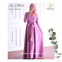 NUURA DRESS WINE BERRY