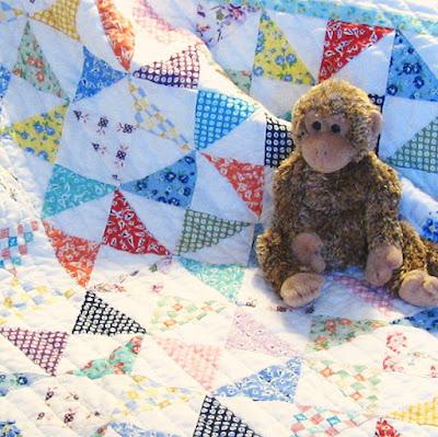 precious bundle baby quilt detail