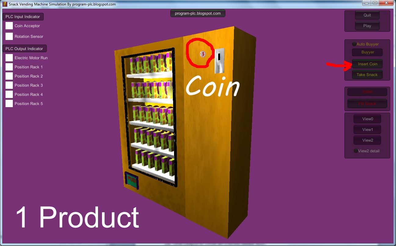 Snack Vending Machine Simulation For One Type Of Product Using Plc Wiring Diagram