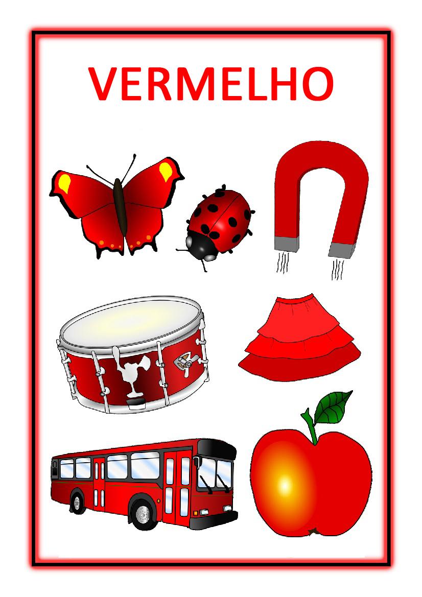 atividades com cores cartazes educação infantil sÓ escola