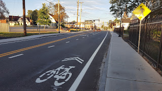 updated lane markings were part of the Downtown Project finish work