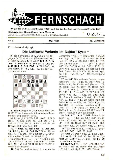 Fernschach Nº5-Mayo-1985