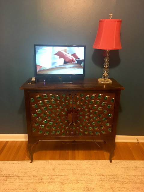 Pier 1 Allusion Cabinet Home Office Makeover