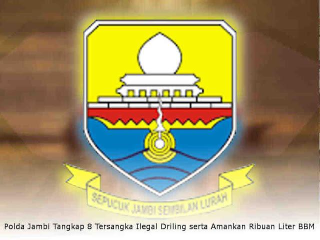 Polda Jambi Tangkap 8 Tersangka Ilegal Driling serta Amankan Ribuan Liter BBM