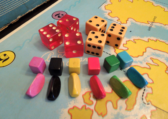 Risk first version 1959 - dice