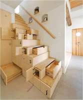 Ideas para ahorrar espacio debajo de la escalera cajones