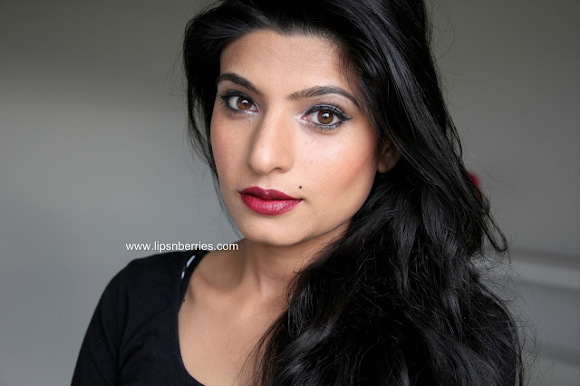 MAC Dark side lipstick on indian skin