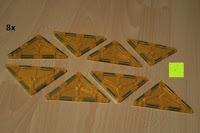 Dreieck gelb: Playbees 100 Teile Magnetische Bausteine Set für 2D und 3D Form Konstruktionen, Regenbogenfarben Magnetspielzeug, Baukasten Magnetspiel, Magnetbausteine