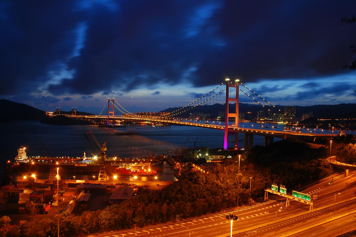 發掘香港另一面: 青衣--夜景(拍攝地方)