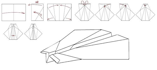 Avión de papel M-85 UFOSpeedster